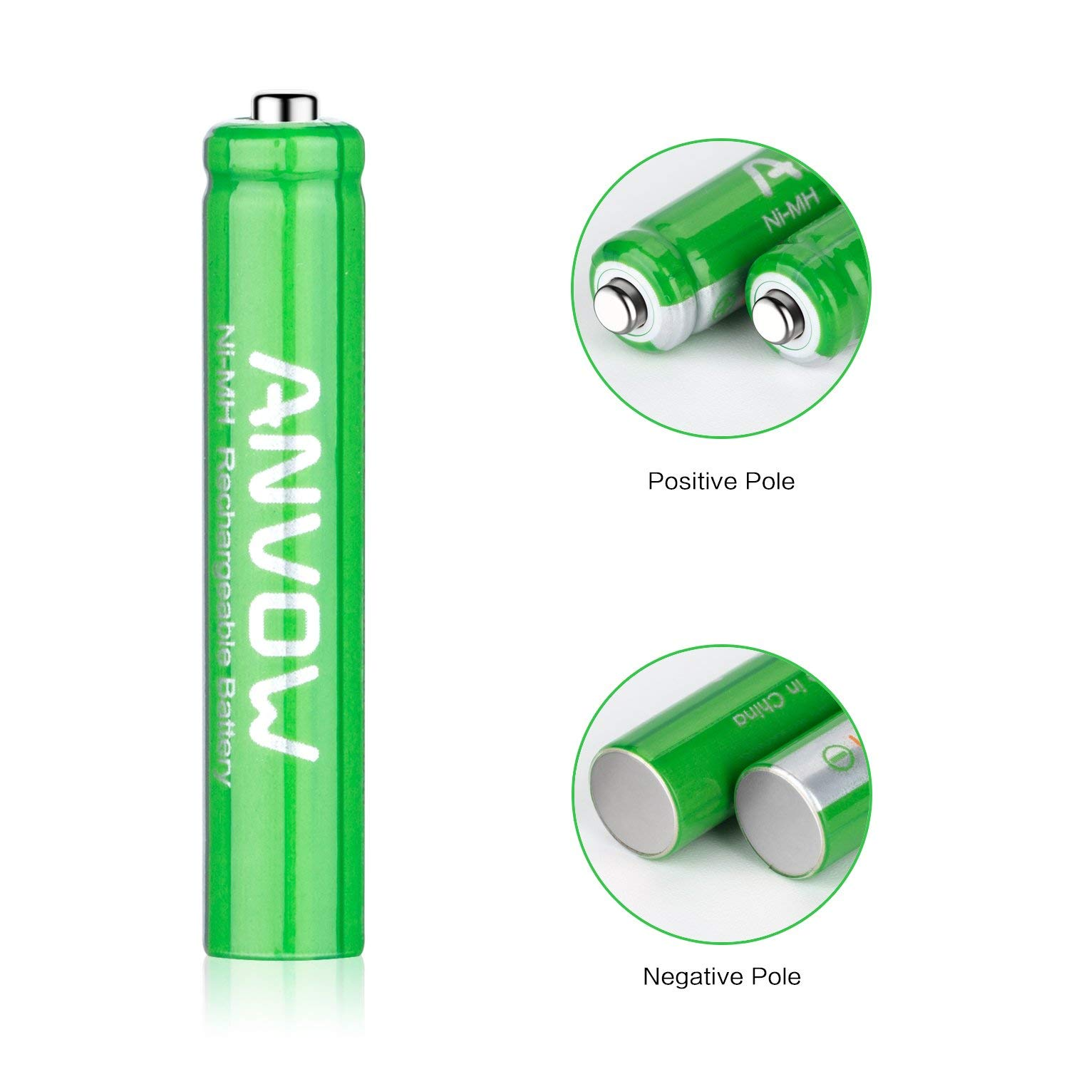 AAAA Batteries, ANVOW Rechargeable AAAA Batteries for